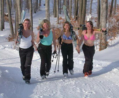 Gilrs Gone Skiing