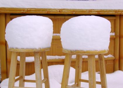 Barstools & Snow