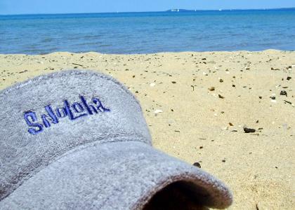 Snoloha Visor on Beach