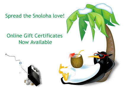 Snoloha Gift Certificates