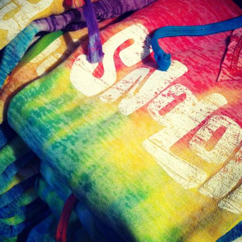 Snoloha Rainbow Strip Hoodie